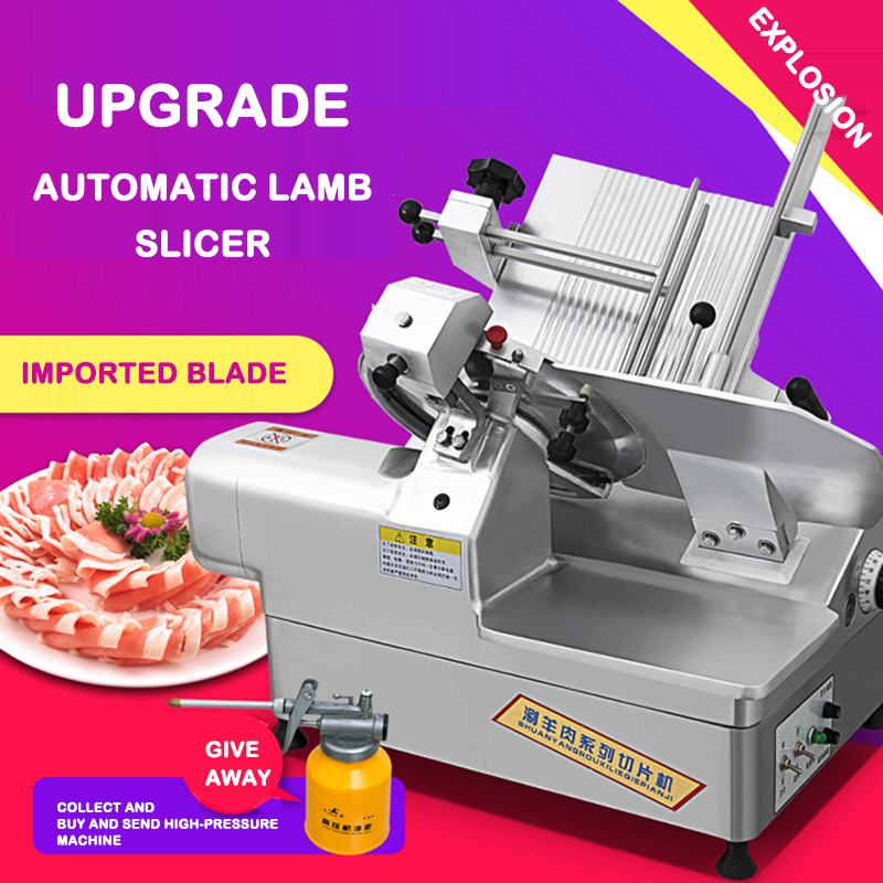 Meat Slicer Commercial Fat Beef Mutton Slicer Electric Meat Planer Fully Automatic Slicer Meat Slicer High Speed Rotation