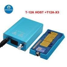 SS-T12A iPhone 6 7 8 X XS MAX PCB motherboard Demontage Entlöten Heizung Station 185 grad genaue Schnelle Trennung Werkzeug