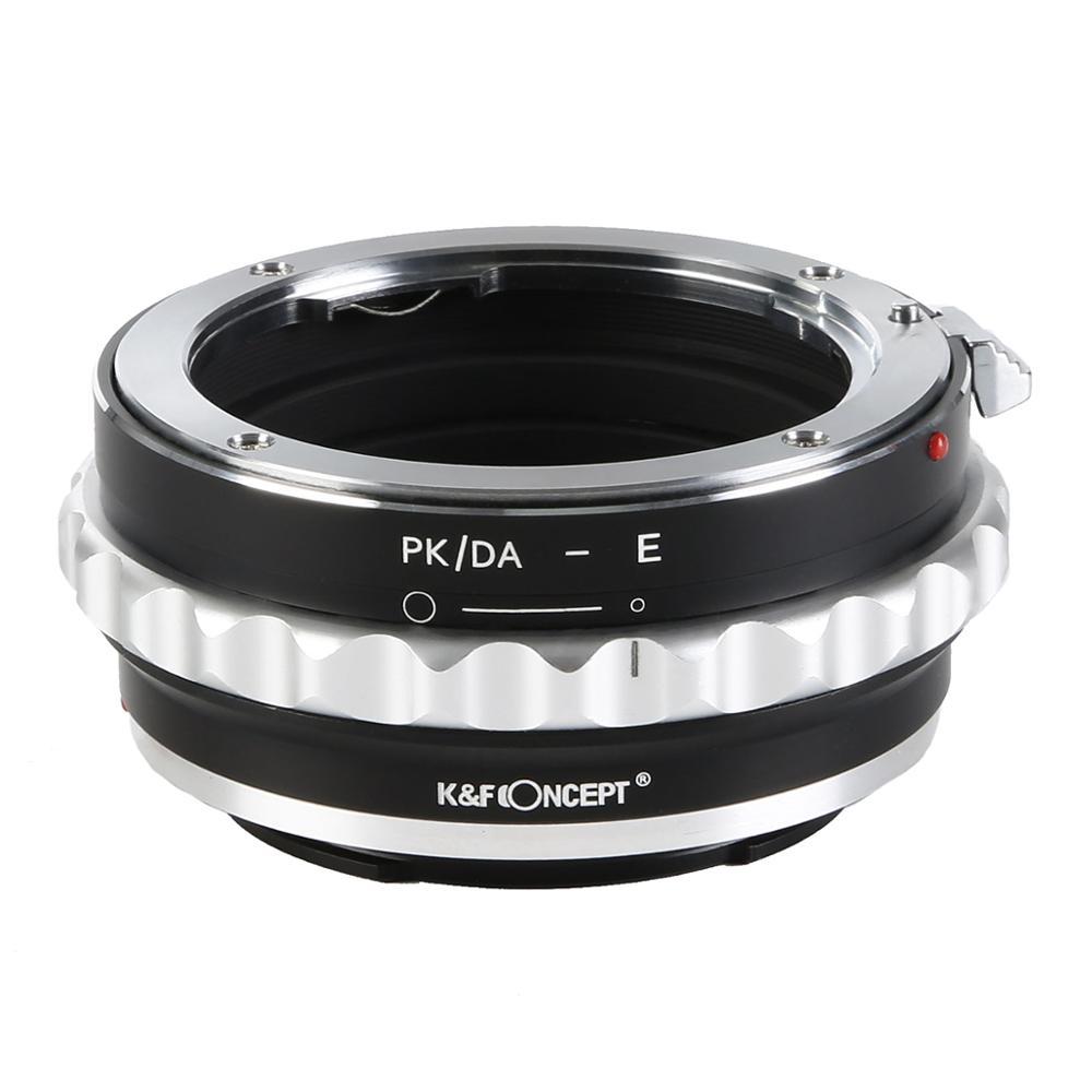 Adaptateur de fixation d'objectif K & F Concept pour Pentax K/M/A/FA/DA vers Sony e-mount NEX adaptateur de caméra Len