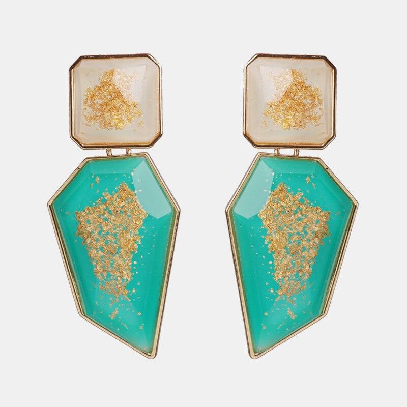Женские серьги-подвески Ztech, большие геометрические серьги с кристаллами Za в стиле бохо, эффектные Свадебные украшения для вечеринок, рожде...