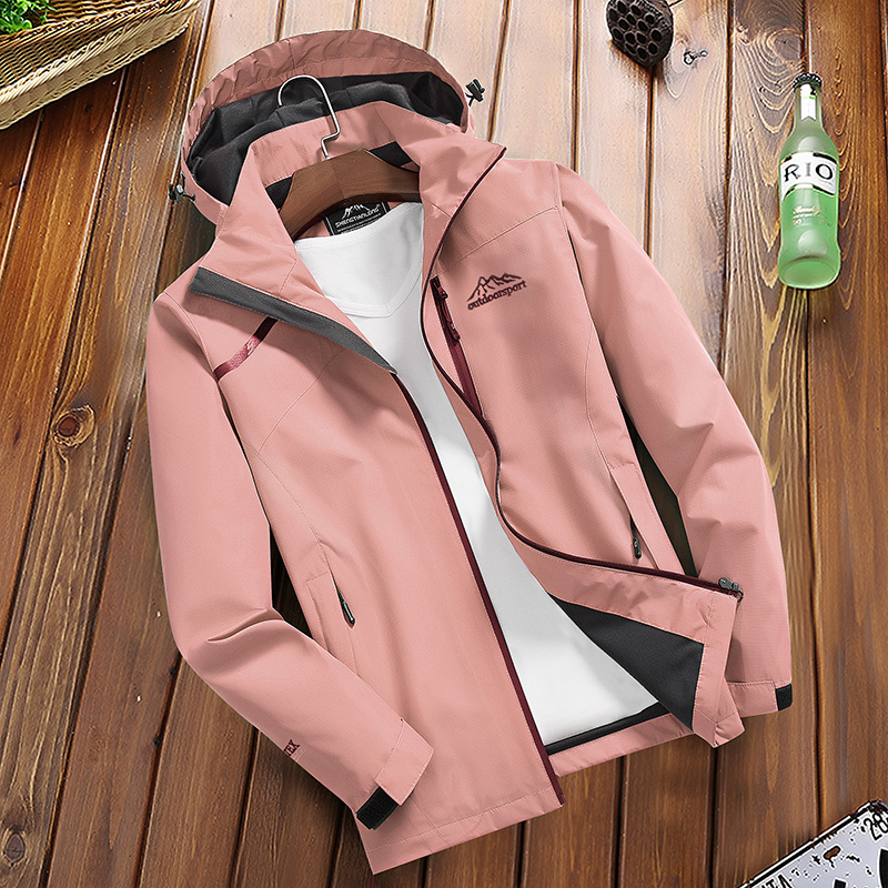 Hfa4dc8b8fc774f26b77c290ede9a4b11B Women's Casual Waterproof Windproof Jacket Hooded Coat Spring Autumn Breathable Tourism Mountain Windbreaker Jackets Female