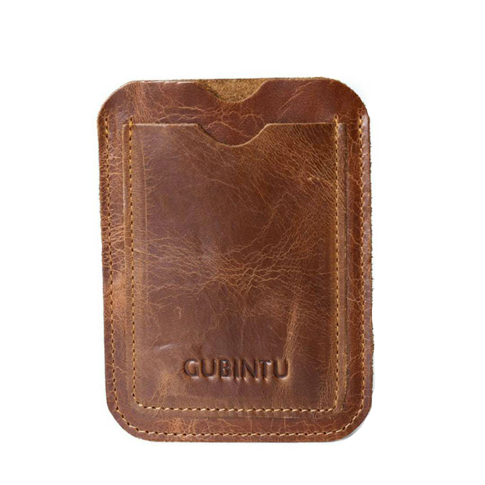 Slim Genuine Leather Wallet Credit ID Card Holder Purse Unisex Money Case For Men Women Card Bag ID Passport Card Wallet Bag