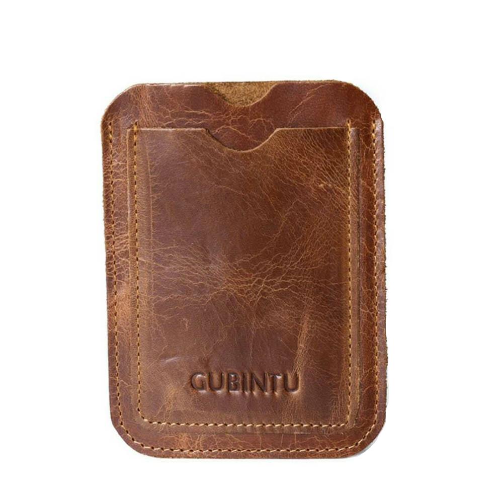 Slim Genuine Leather Wallet Credit ID Card Holder Purse Unisex Money Case For Men Women Card Bag ID Passport Card Wallet Bag