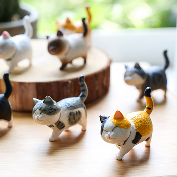 Lovely Cat Ornaments Creative Girl Ornaments Student Personality Home Decoration Accessories Desktop Model Birthday Gif