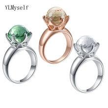Прямая поставка кольца с кристаллами в виде Королевского шара