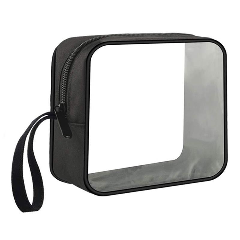 Waterproof PVC Transparent Toiletry Bag Portable Multipurpose Clear Zipper Cosmetic Bag Travel Makeup Bags Cosmetic Storage Bags