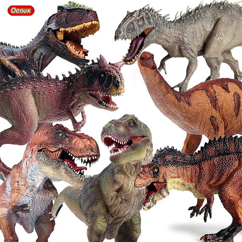 Oenux Prehistoric Jurassic Dinosaurs World Pterodactyl Saichania Animals Model Action Figures PVC High Quality Toy For Kids Gift