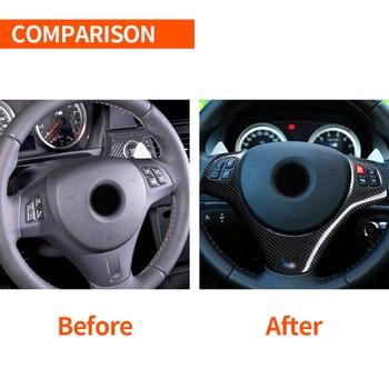 Car Steering Wheel Cover Carbon Fiber Black Decoration Accessories Durable