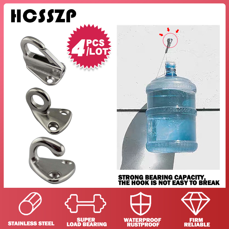 HCSSZP 4 Pieces Locked Fender Spring Hooks Stainless Steel 316 Snap Coat Cap Hook Attach Rope Boat Sail Tug Ship Marine Hardware-in Marine Hardware from Automobiles & Motorcycles