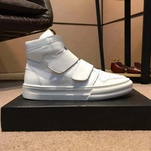 High-Top Genuine Cow Leather Shoes Men Winter Fashion Ankle