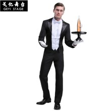 Hotel waiter Men Women Chef Jackets Summer Double-breasted Waiter Kitchen Hotel Restaurant Uniforms Bakery Cafe cosplay costume(China)
