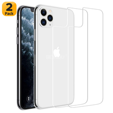 2 Pcs Back Tempered Glass for iPhone 11 / Pro Ultra Thin  Anti-Scratch Screen Protector Max