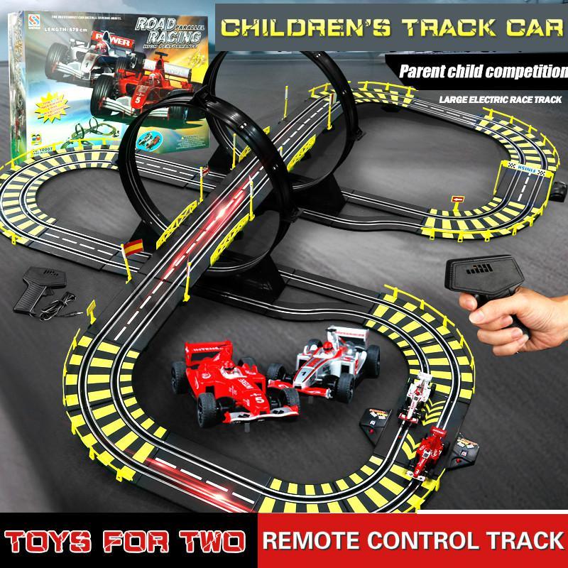 Железнодорожная игрушка масштаб 1:43, электрический трек, гоночный автогоночный автомобиль, профессиональный автомобиль, автомобильный тре...