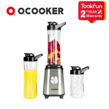 Новинка 2020 г., блендеры QCOOKER для фруктов и овощей, Кухонная машина с чашками, портативная электрическая соковыжималка, миксер, безопасный кухонный комбайн для еды