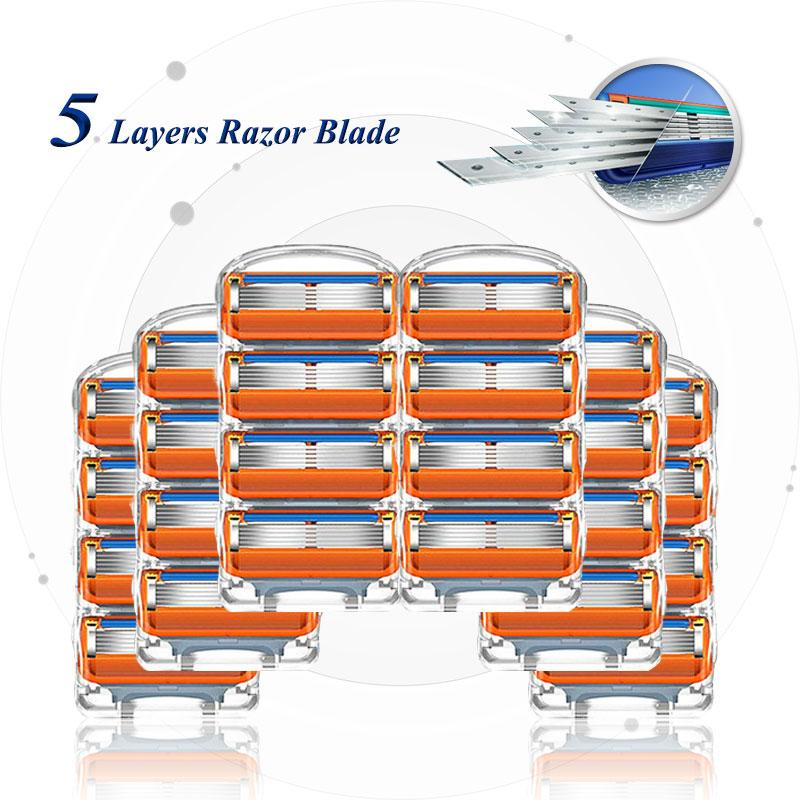 Бритвенных лезвий для бритья Gillette Fusion 5 для лица бритва кассеты прямое бритвенное лезвие для бритья бороды чехол сменными головками для Для ...