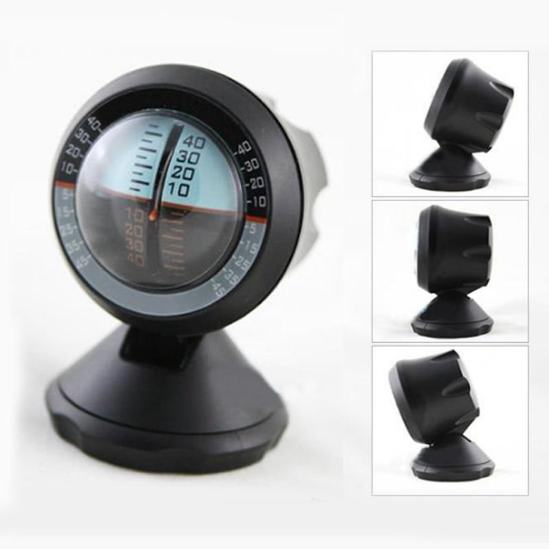 Car Van Black ABS Angle Slope Tilt Indicator Level Balance Meter Gauge Tool