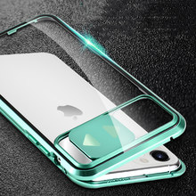 2020 verbesserte Metall Apple11 7 8 XXS XR XMAX Design Präzision Loch Position Schiebe Brille Galvanik Rand Handy Fall(China)