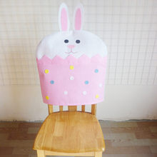 chair covers kitchen Easter rabbit Chair Covers Chair Back Covers Chair Protector Cover Slipcover Dining Room office living room(China)