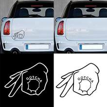 OK Gesture Gotcha Car-Styling Vehicle Body Window Bumper Decals Sticker Decor(China)