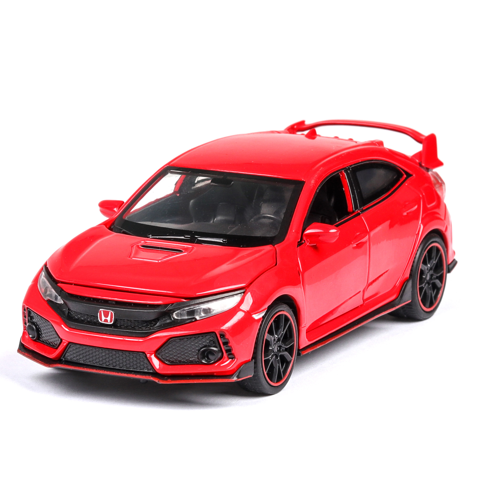 1:32 HONDA CIVIC TYPE-R Diecasts & Toy Vehicles Car Model With Sound Light Collection Car Toys For Boy Children Gift Toy Machine
