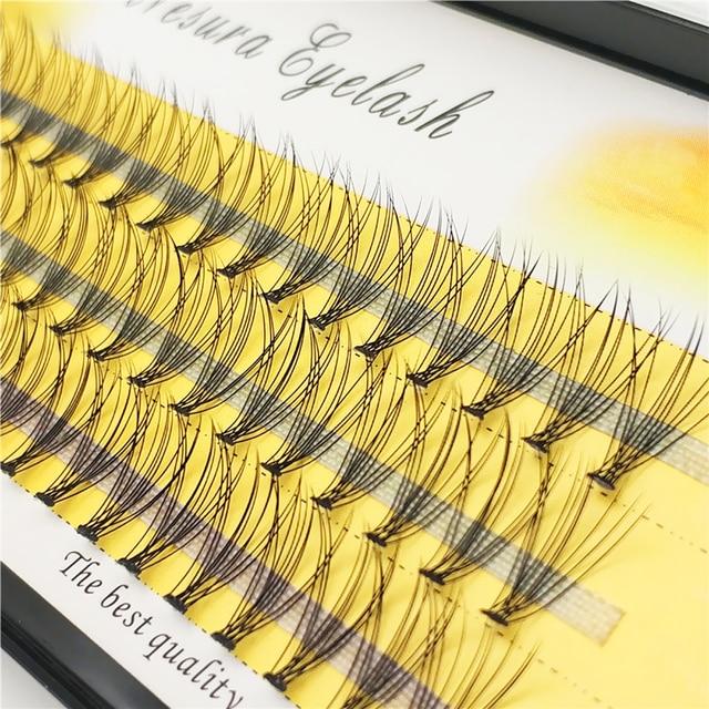 1box big capacity 60 bundles 6d 10D Eyelash Extensions 0.1mm Thickness true Mink Strip Eyelashes Individual Lashes Natural Style 2