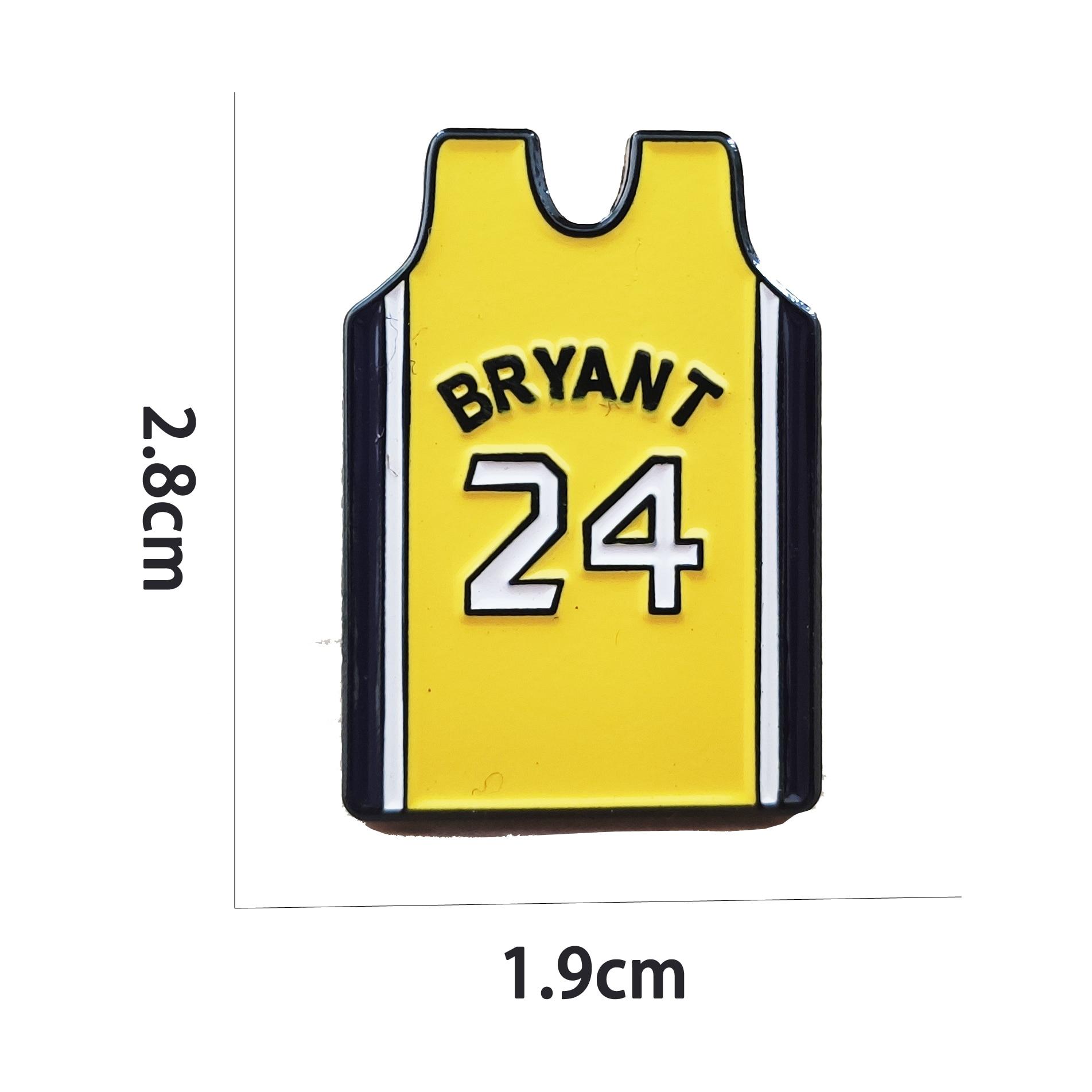 Kobe Bryant No.24 Jersey Hard Enamel Pin Badge Brooch