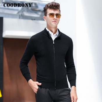 COODRONY Brand Sweater Men Zipper Turtleneck Cardigan Men Clothing Autumn Winter Thick Warm 100% Merino Wool Sweater Coat P3026 coodrony brand sweater men zipper turtleneck cardigan men clothing autumn winter thick warm 100% merino wool sweater coat p3026