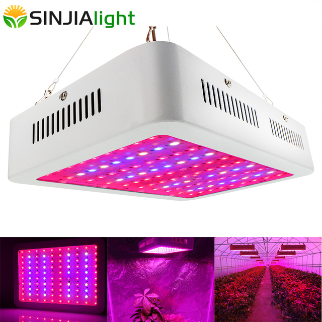 1000W Full Spectrum LED Grow Light Double Chip Growing Plant Lamp for hydroponics vegs greenhouse grow tent indoor plants
