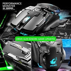 Image 5 - Souris Gaming professionnelle filaire 6400dpi, souris dordinateur portable PC, souris ergonomique avec définition RGB