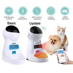 Alimentador automático de mascotas Iseebiz 3L con registro de voz, cuenco de comida para mascotas para perros medianos y pequeños, dispensadores de pantallas LCD para gatos, 4 veces al día