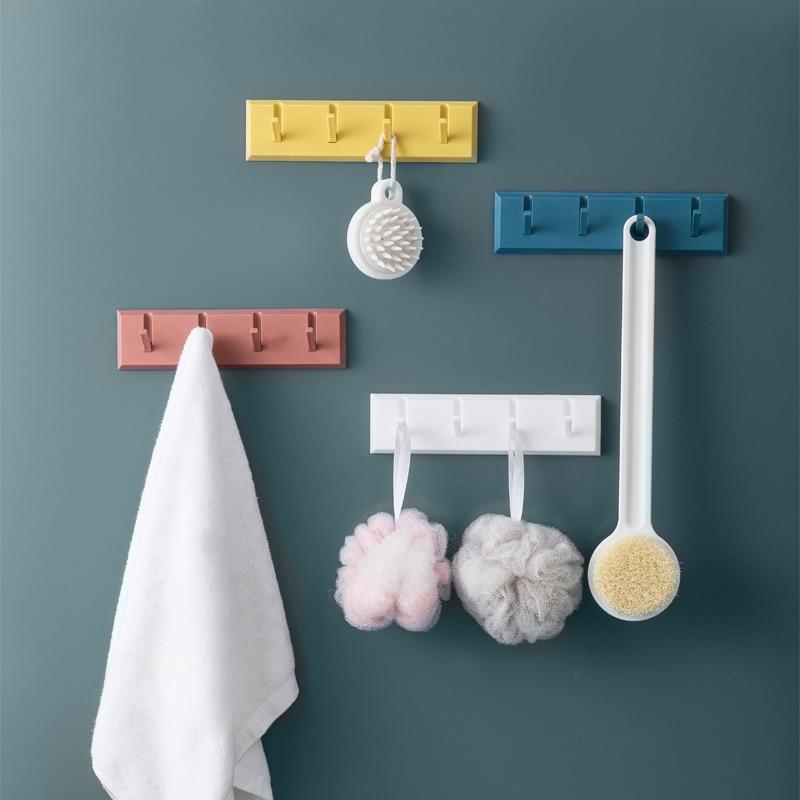 Bathroom shelf ABS Piano hook No punching Strong paste door coat rack Bathroom wall rack Bathroom Accessories