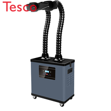 Portable Fume Extractor, High Quality Air Purification System, Laser Smoke Filter with Extraction Double Arm Hood