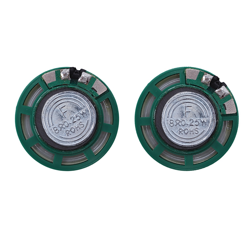2 Pcs 1/4W 0.25W 8Ohm 27mm Round External Magnet Speaker Speaker,Sound Amplifier,Speaker Accessories