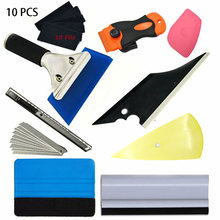 Film Window Tint Tool Kit Scraper Squeegee Car Wrap Portable Auto Repairing Accessories Replacement Set Film Installation(China)