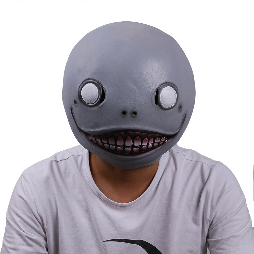 Automata Emil Mask Costume Helmet Halloween Cosplay Props Latex 2019 HOT NieR
