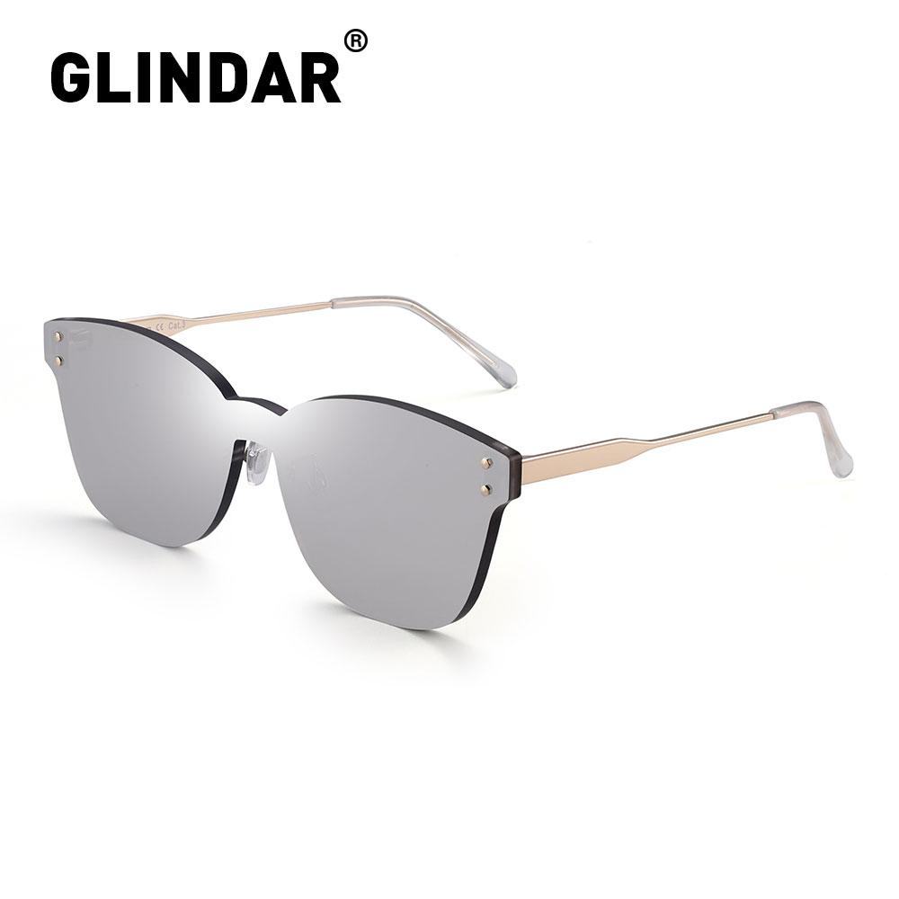 Rimless Thicken Women Sunlgasses One Piece Candy Color Sun Glasses For Women