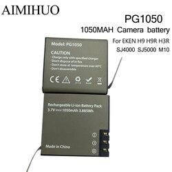 PG1050 3.7V 1050mah Sport Action Camera Battery for EKEN H9 H9R H3 H8PRO SJ4000 SJCAM SJ5000 M10 SJ5000 Replacement battery
