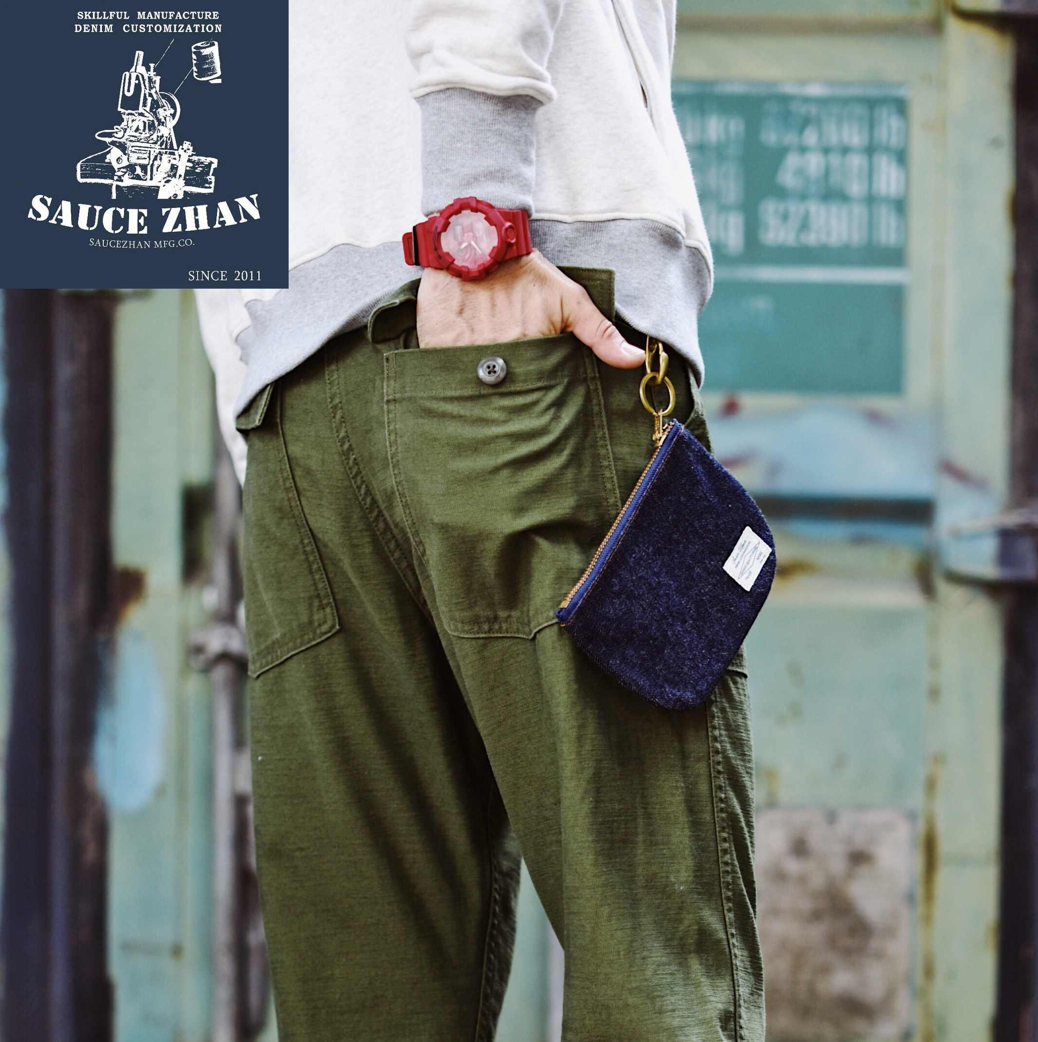 SauceZhan OG-107 ความเมื่อยล้า Utility กางเกงทหารกางเกง Casual Retro VINTAGE CLASSIC Mens กางเกง Baker กางเกงกางเกงผู้ชาย