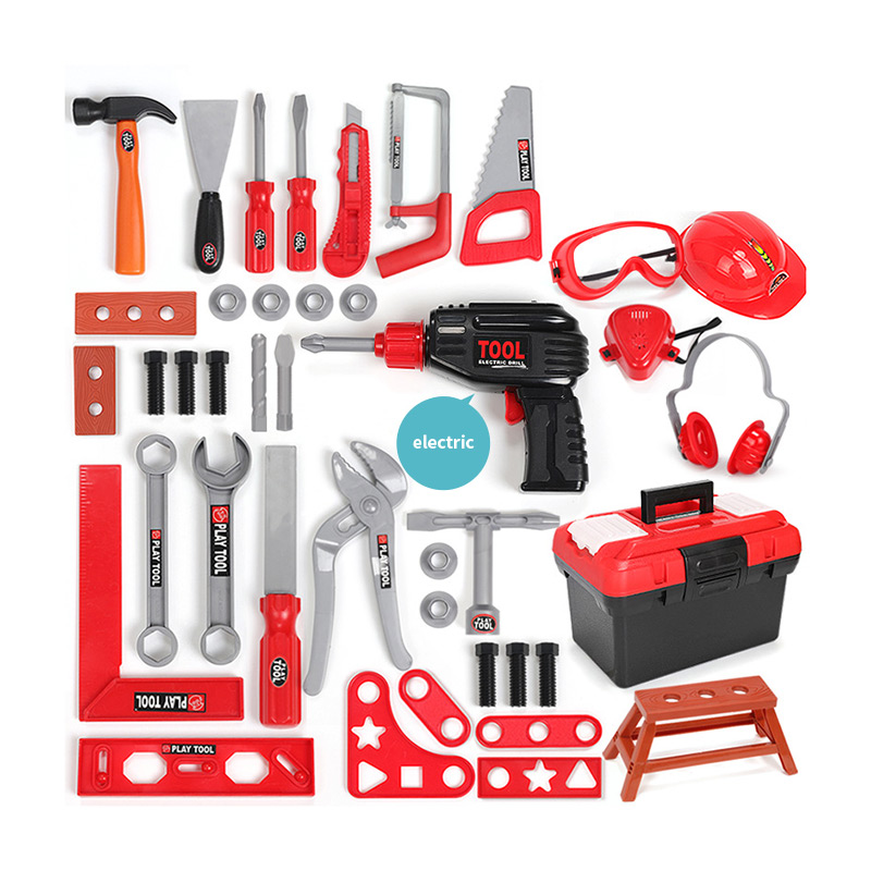 21/28/34 Sets Kids Toolbox Kit Educational <font><b>Toys</b></font> Simulation Repair <font><b>Tool</b></font> <font><b>Toy</b></font> Plastic Game Learning Engineering Puzzle <font><b>Toys</b></font> For Boy image