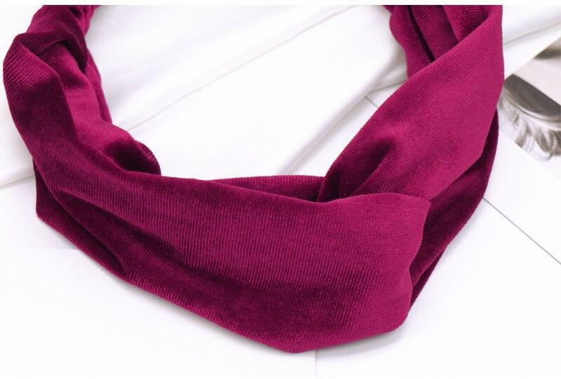 cruz cabeça faixas elasticidade puro colore headbands