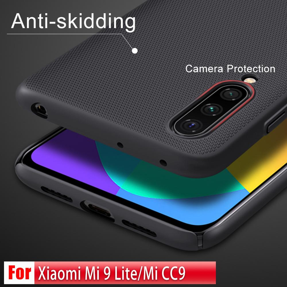 For Xiaomi Mi 9 Lite Case NILLKIN Frosted Shield matte hard back cover case anti-skidding anti hand sweating case For Xiaomi CC9