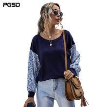 Pgsd 2020 осень зима Повседневный Топ Модный вязаный пуловер