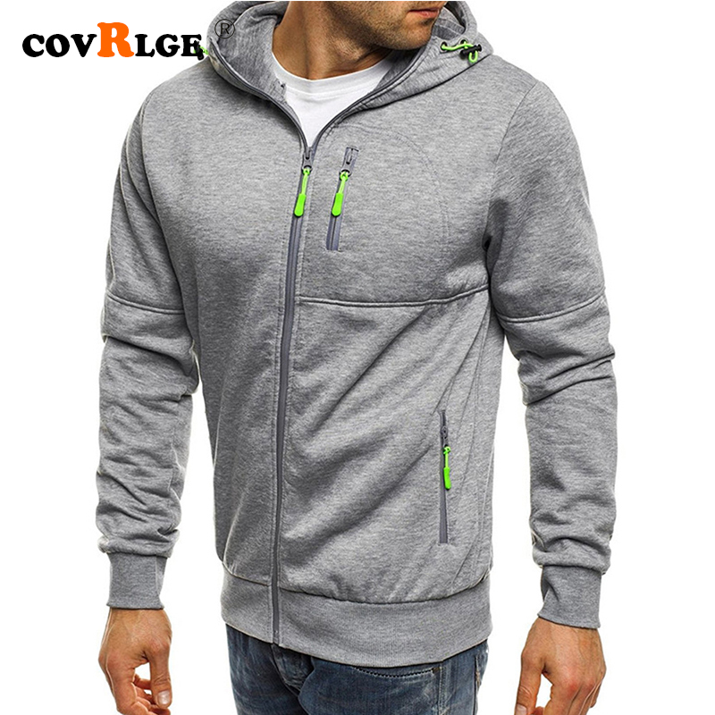 Covrlge Spring Men's Jackets Hooded Coats Casual Zipper Sweatshirts Male Tracksuit Fashion Jacket Mens Clothing Outerwear MWW148 1