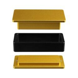 2x4 zoll Kolophonium Pre Presse Mold Laden 7 zu 12g materialien für blume und raute Solventless Extraktion und Drücken