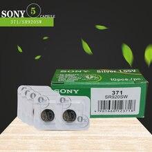 5 pçs/lote para sony original ag6 1.5v óxido de prata botão pilha baterias sr920sw sr69 sg6 lr69 171 920 único grão embalagem