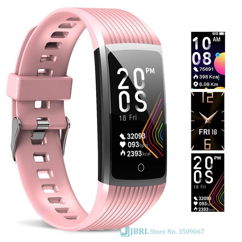 Mode Sport montre intelligente femmes hommes dames bracelet pour android Ios tension artérielle Fitness Tracker bracelet intelligent Smartwatch