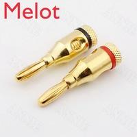 100pcs/lot Gold Plated Banana Plug Connector For Budweiser Musical Speaker Jack Horn Wire Socket