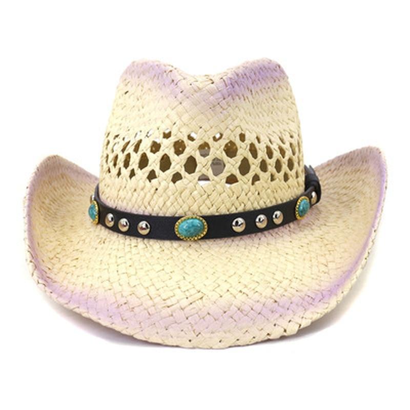 summer hats men women panama big brim western cowboy belt straw sun hats solid khaki black casual outdoor natural raffia sun hat