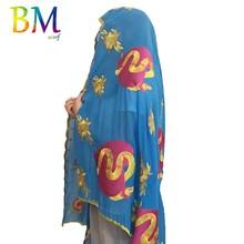 В НАЛИЧИИ ! Высокое качество африканских женщин шифон шарф большой шифон мусульманский шарф шали обертывания BX413