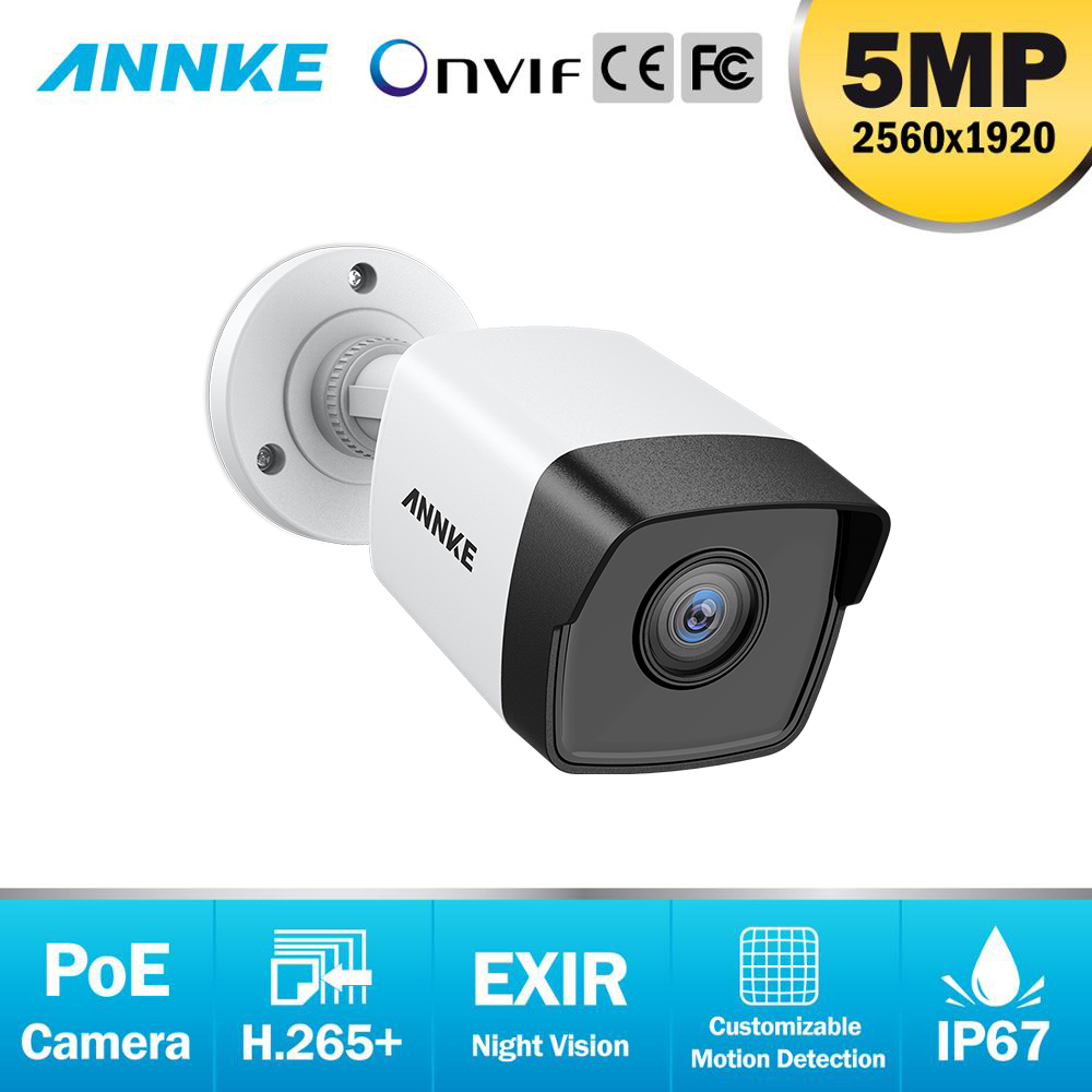 ANNKE 1X Ultra FHD 5MP POE IP Kamera Outdoor Indoor Wasserdichte Sicherheit Netzwerk Kugel Sternenlicht Nachtsicht E-mail Alarm Kamera